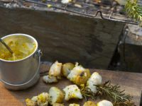 Fish and Potatoes on Rosemary Skewers with Curry recipe