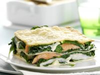 Fish and Spinach Lasagna recipe