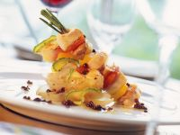 Fish and Vegetables on Rosemary Skewers recipe
