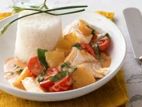 Fish Curry with Tomatoes and Rice recipe