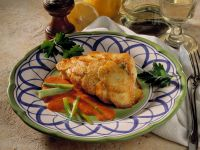 Fish Fillet in Potato Crust with Pepper Sauce recipe