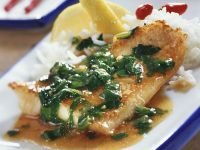 Fish Fillet in Spicy Spinach Sauce with Ginger recipe