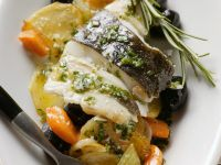 Fish Fillet with Carrot and Olives recipe