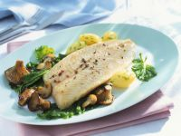 Fish Fillet with Mushrooms and Vegetables recipe