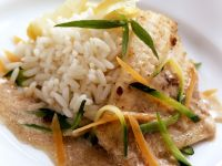 Fish Fillet with Vegetables and Rice recipe