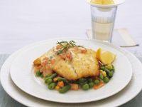Fish Fillets on Vegetable Bed recipe
