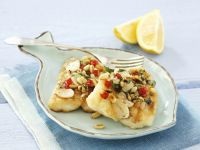 Fish Fillets with Pine Nut Topping recipe