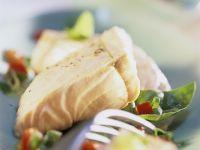 Fish Fillets with Zucchini Vinaigrette recipe