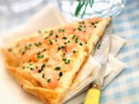 Fish Flatbread with Chives recipe