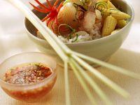 Fish Fondue with Rice recipe
