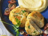 Fish Fritters with Mashed Potatoes and Rutabaga recipe