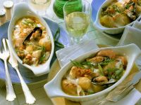 Fish Gratin with Mussels and Scallion recipe