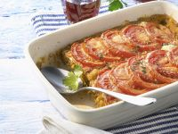 Fish Gratin with Tomatoes recipe