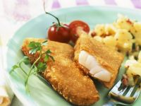 Fish in Breadcrumbs with Potato Salad recipe
