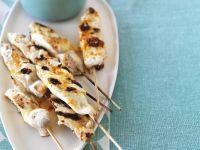 Fish Kebabs and Vegetable Salad recipe