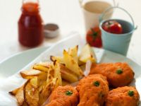Fish Nuggets with Wedges recipe