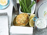 Fish Patties with Cucumber Yoghurt Sauce recipe