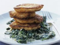 Fish Patties with Spinach recipe
