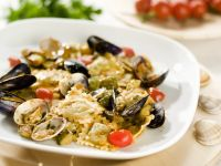 Fish Ravioli with Mussels and Vegetables recipe