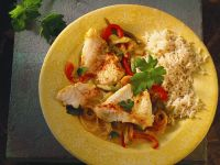 Fish with Bell Pepper Ragout recipe