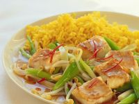 Fish with Fried Curry Rice recipe