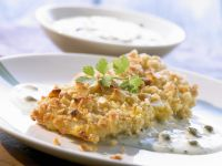 Fish with Macadamia Crust and Caper Sauce recipe