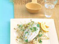 Fish with Sprouts and Cilantro recipe