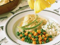 Fish with Vegetables and Rice recipe