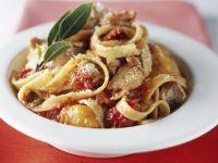 Flaked Fish and Herb Ribbon Pasta