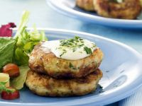Flakey Fish Patties with Leaves recipe