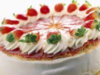 Flaky Strawberry Yogurt Cake