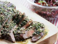 Flank Steak with Garlic and Parsley recipe