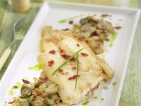 Flat Fish Fillets with Mushrooms recipe