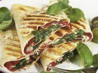 Flatbread Panini with Bresaola and Arugula recipe