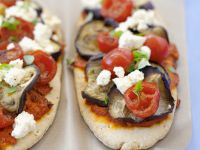 Flatbread Pizzas with Greek Cheese recipe