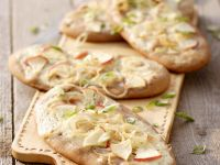 Nutty Flatbreads with Topping recipe