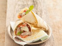 Flatbread Wraps with Meat Filling recipe