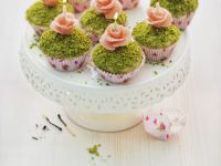 Floral Cakes with Pistachio Soil recipe
