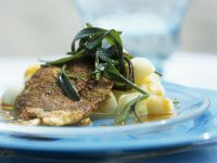 Flounder with Potatoes and Tarragon recipe