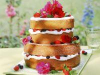 Flowery Berry Cream Layer Cake recipe