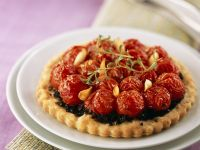 Fluted Black Olive Tarts recipe