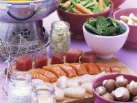 Fondue with Fish and Vegetables recipe
