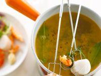 Fondue with Shrimp and Scallops recipe