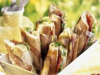 French Ham Salad Flutes recipe