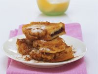 French Toast Sandwiches with Plum Jam recipe