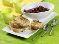 French Toast with Plum Compote recipe
