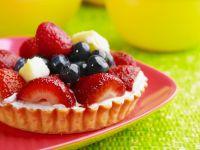 Fresh Berry and Pineapple Tarts recipe