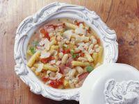 Fresh Pasta and Beans recipe