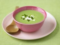 Fresh Pea Soup with Feta recipe