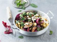 Fricelli with Mint and Eggplant recipe